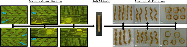 illustration of how material composites change through process
