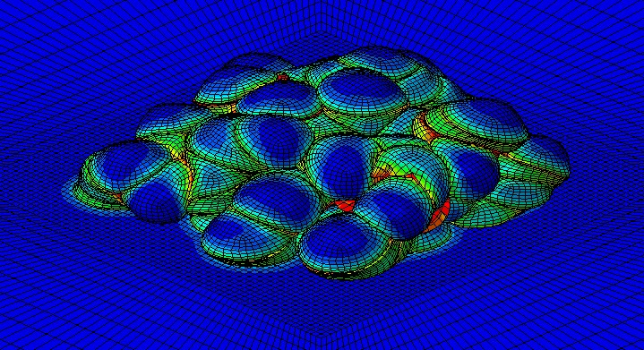 image depicting combination of physics and material on bright royal blue background