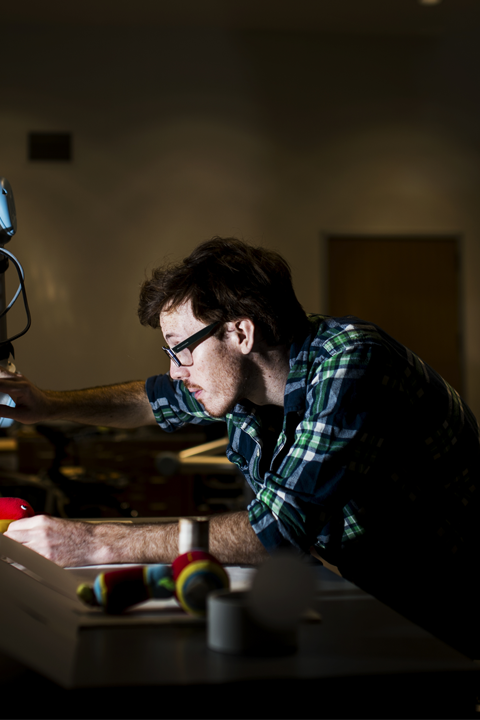 PhD student working on robotics